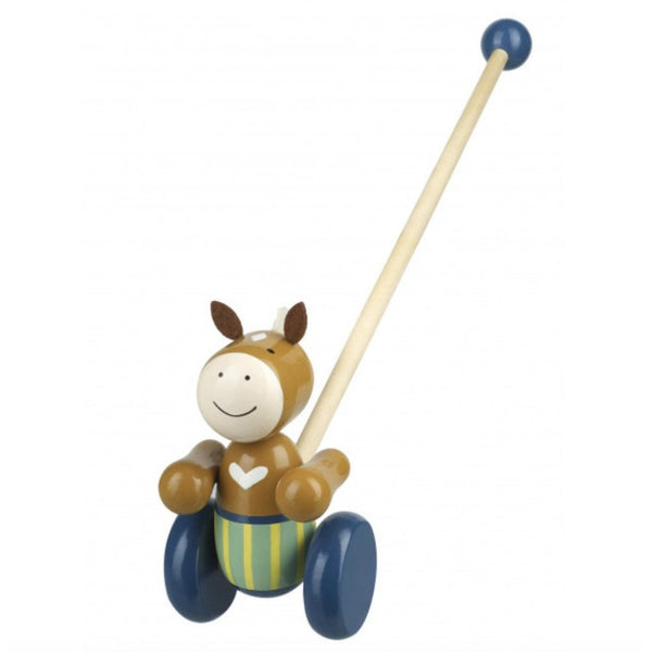 Pony Push Along Wooden Toy by Orange Tree Toys | Cotswold Baby Co