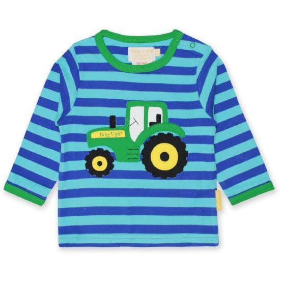 Organic Cotton Tractor Applique T-Shirt | Toby Tiger