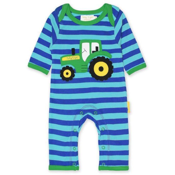 Organic Cotton Tractor Playsuit | Toby Tiger