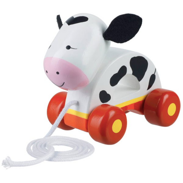 Cow Pull Along toy by Orange Tree Toys