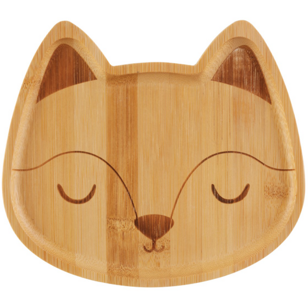 Foxy Bamboo Plate by Sass & Belle