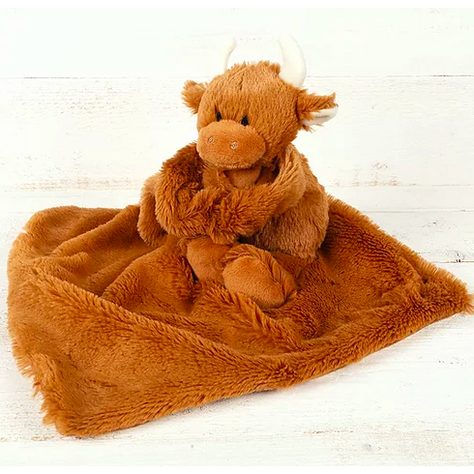 Baby Highland Cow Comforter by Jomanda