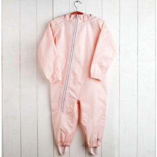 Baby Pink Waterproof Stomper Suit by Grass & Air | Cotswold Baby Co