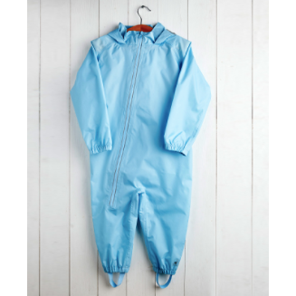 baby blue waterproof stomper suit by Grass and Air | Cotswold Baby Co