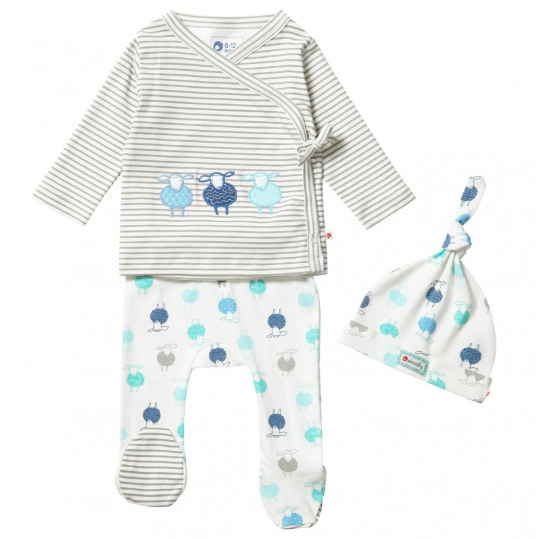 Piccalilly organic cotton sheep outfit for baby