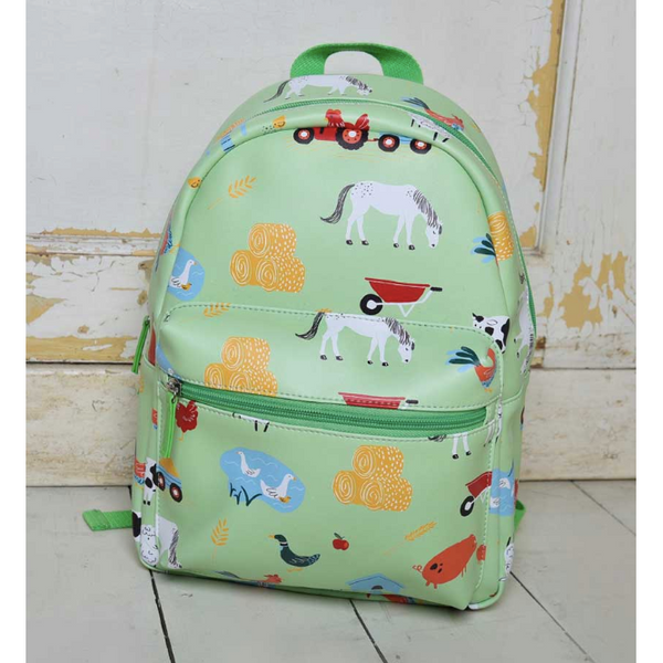 Down on the Farm print backpack by Powell Craft