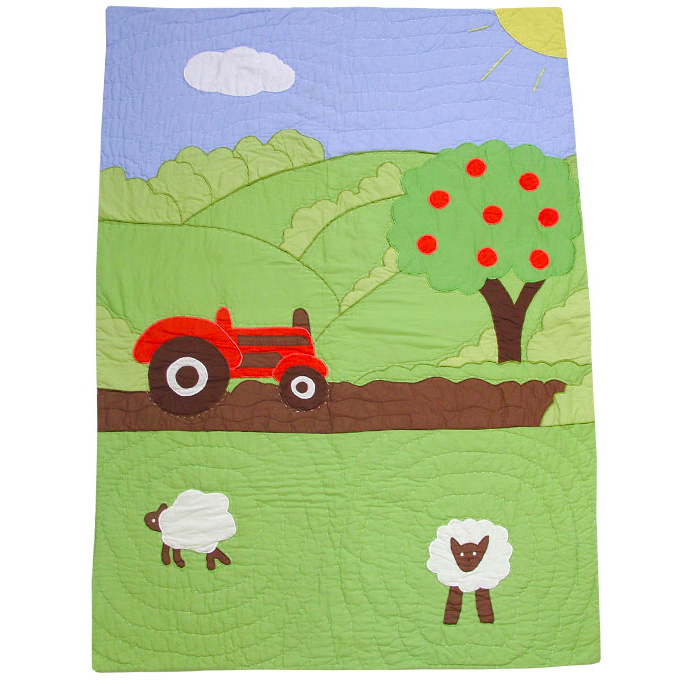 At the farm cot bed quilt, by Powell Craft