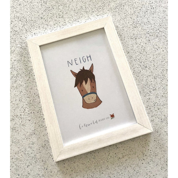 Cheeky Horse A4 Print | Cotswold Baby Co.