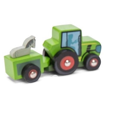 green mini wooden tractor - le toy van