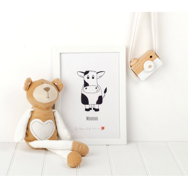 Mooooo A4 Print | Cotswold Baby Co.