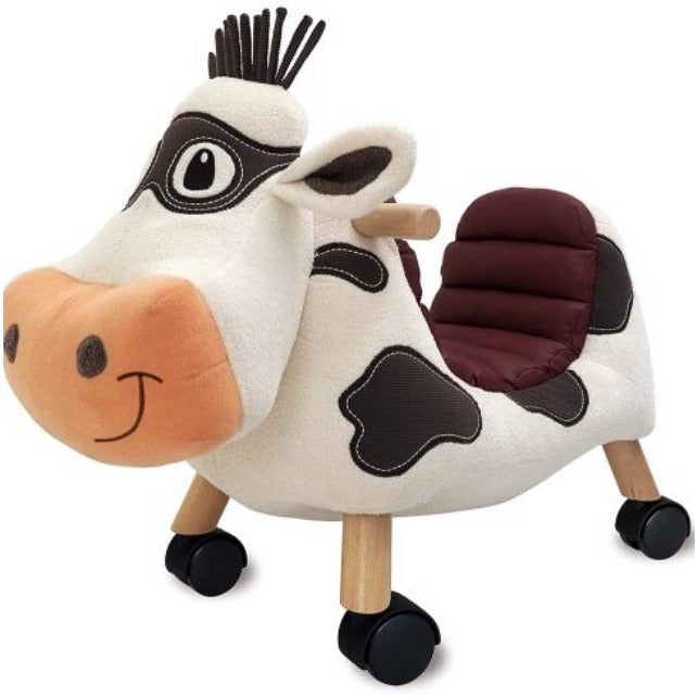moobert ride on kids cow toy by little bird told me | Cotswold Baby Co