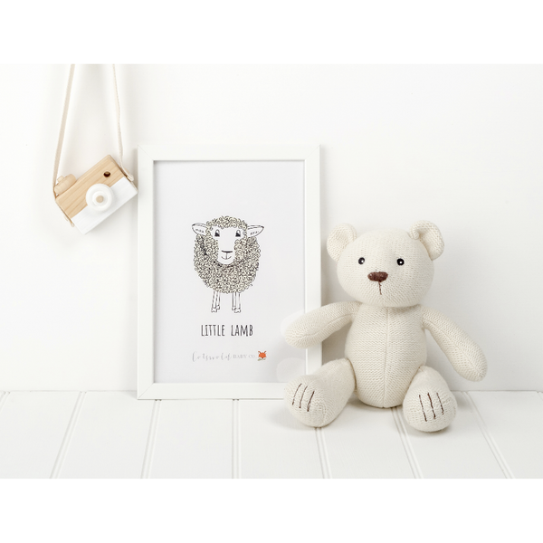 little lamb print - cotswold baby co