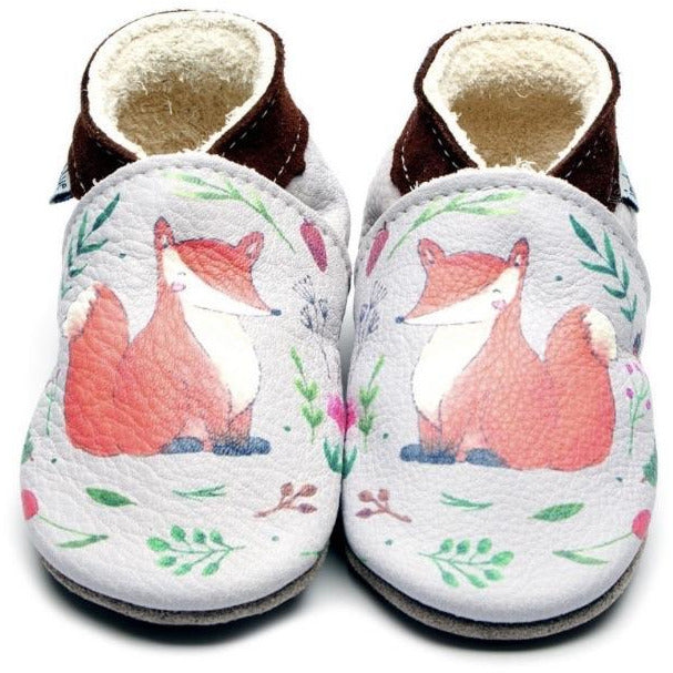 Fox Printed Leather Shoes