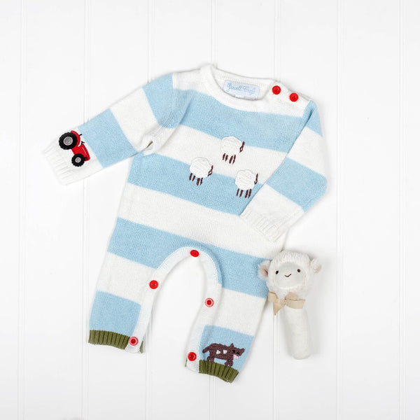 Farmyard Knitted Playsuit