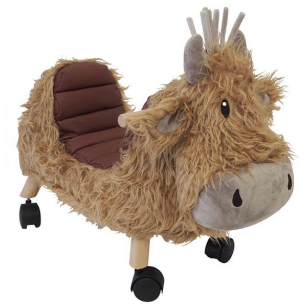 Hubert Highland Cow Ride on toy by Little Bird Told Me | Cotswold Baby Co
