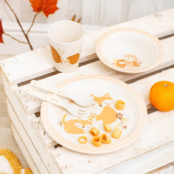Woodland Friends Bamboo Tableware Set