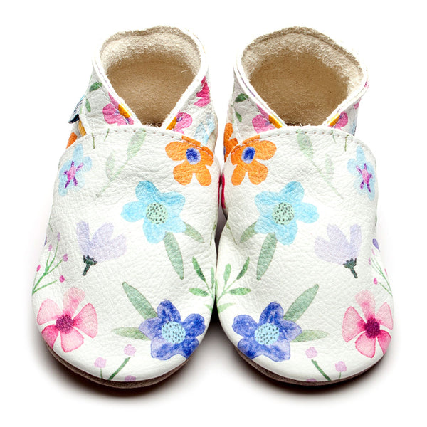 Posy Floral Leather Shoes by Inch Blue
