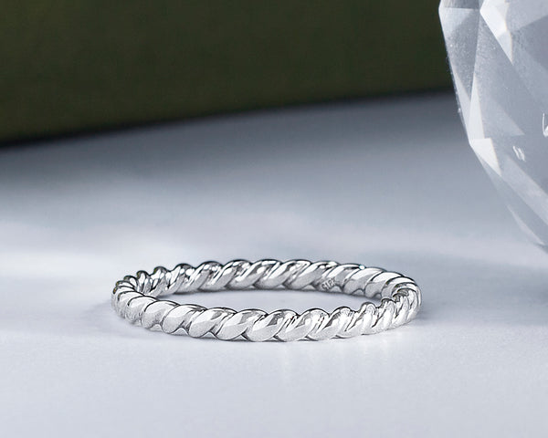 Beatrice 18Karat White Gold Wedding Band