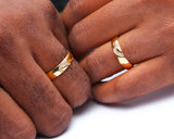 18Karat Gold Wedding Set, Diamond Ring, Wedding Ring