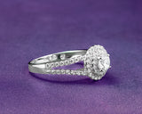 Farah Sterling Silver Engagement Ring