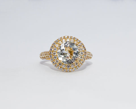 HANNAH 18 KARAT YELLOW GOLD ENGAGEMENT RING