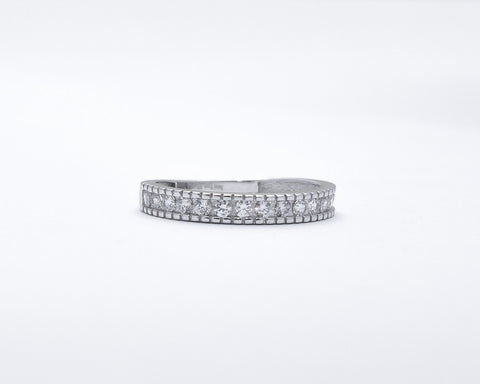 Blake 18Karat White Gold Wedding Band
