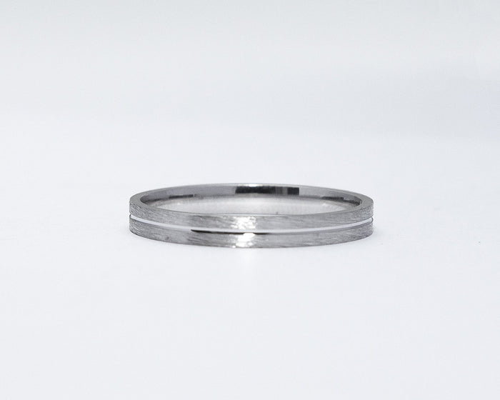 Melvin 18Karat White Gold Wedding Band