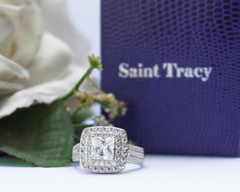Zinnia Sterling Silver Engagement Ring