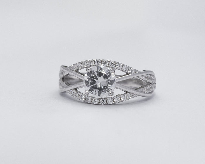 Seun Sterling Silver Engagement Ring