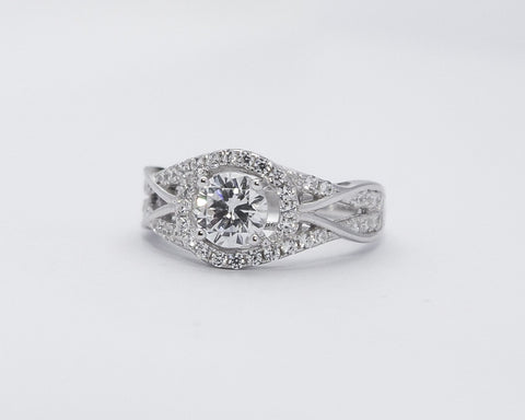Kemi Sterling Silver Engagement Ring