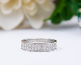 18Karat White Gold Wedding Band, Wedding Ring