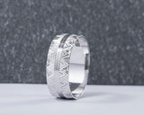Eben 18Karat White Gold Wedding Band