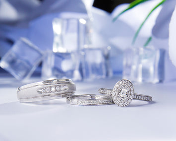Callen 10Karat White Gold Diamond Wedding Set