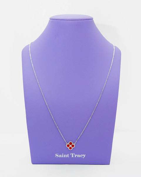 Molly Sterling Silver with Red Enamel Necklace