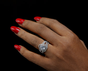 Naveen Sterling Silver Bridal Set