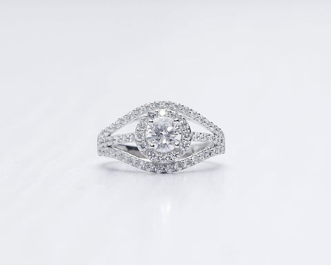 NIMIEN WHITE GOLD ENGAGEMENT RING