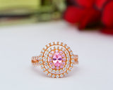Nwanneka 18Karat Rose Gold with Pink CZ Engagement Ring