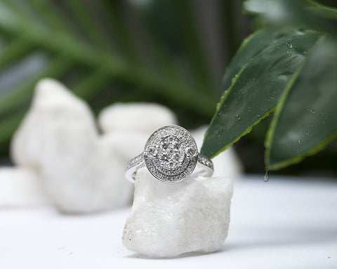 Omawunmi 18Karat White Gold Diamond Engagement Ring