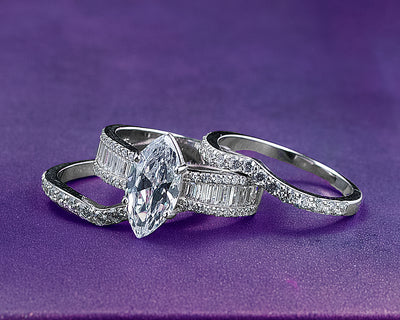Sterling Silver Bridal Set