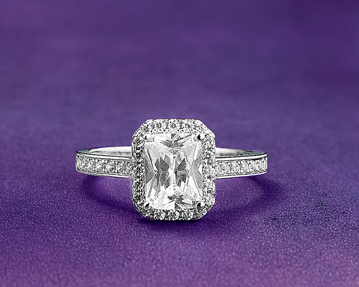 Valerie Sterling Silver Engagement Ring