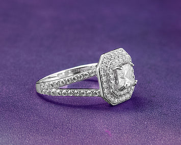 Vanessa Sterling Silver Engagement Ring