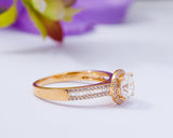 18kKarat Gold Engagement Ring, Proposal Ring, Wedding Ring