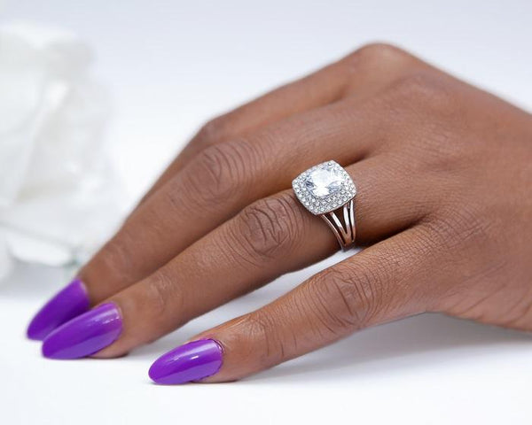 Mariah Sterling Silver Engagement Ring
