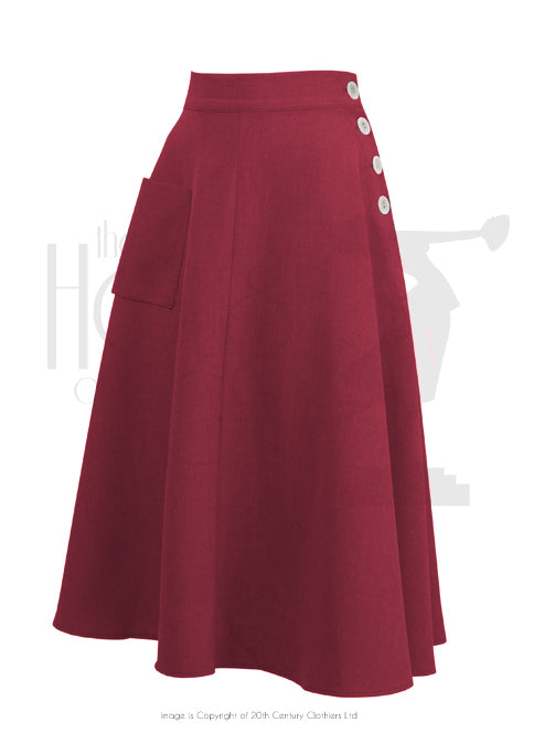 The House of Foxy 40s Whirlaway Skirt in Red