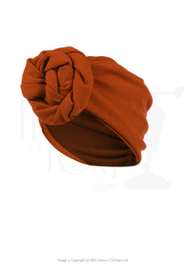 The House of Foxy 40s Style Turban in Rust