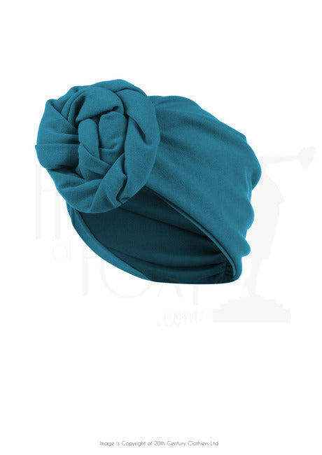 The House of Foxy 40s Style Turban in Teal