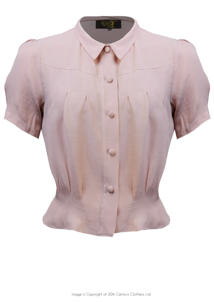 The House of Foxy 1930s Bonnie Blouse in Blush
