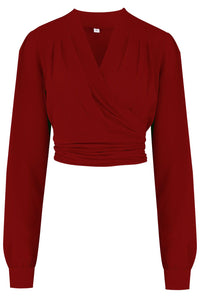 Rock n Romance Darla Wrap Blouse in Wine
