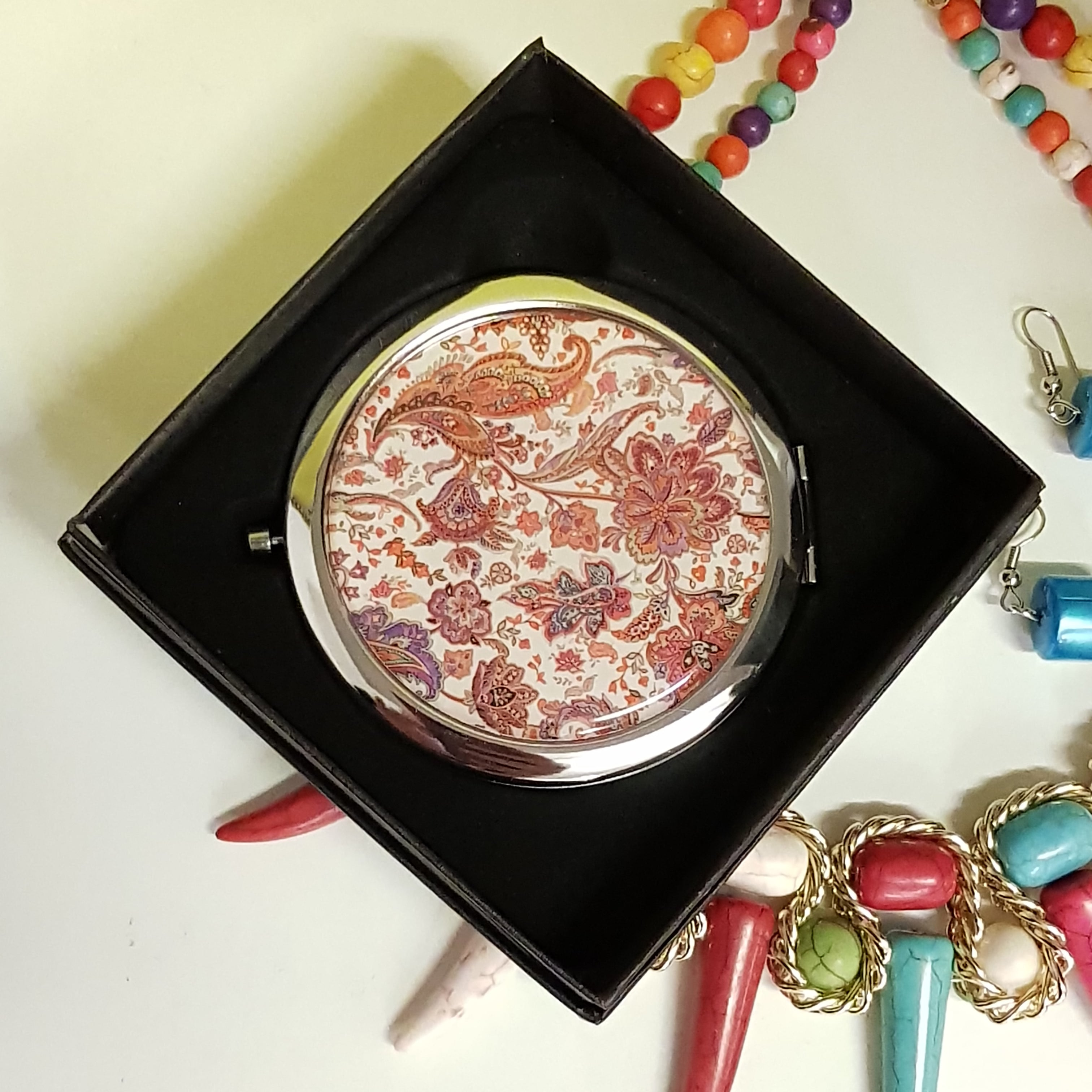 Compact Mirror Floral - JBD