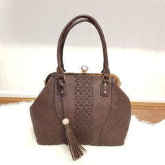 Hattie Large Boho Handbag - Chocolate